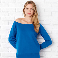 +CANVAS Ladies Sponge Fleece Off the Shoulder Sweatshirt