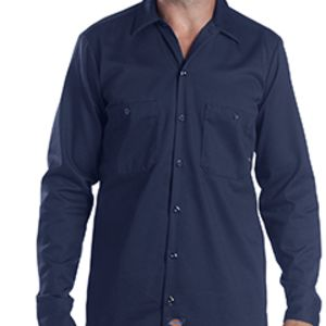 6 oz. Industrial Long-Sleeve Cotton Work Shirt Thumbnail