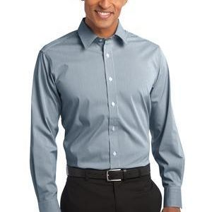 Fine Stripe Stretch Poplin Shirt Thumbnail