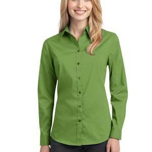 Ladies Stretch Poplin Shirt Thumbnail