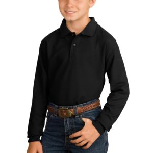 Youth Long Sleeve Silk Touch™ Polo Thumbnail