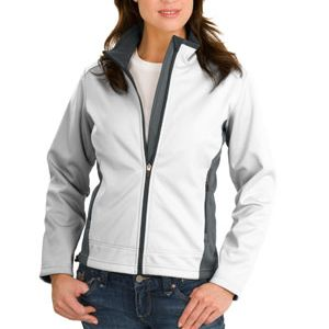 Ladies Two Tone Soft Shell Jacket Thumbnail