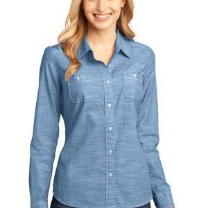 Made® Ladies Long Sleeve Washed Woven Shirt Thumbnail