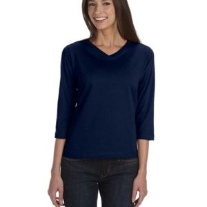 Ladies' Premium Jersey 3/4-Sleeve T-Shirt Thumbnail