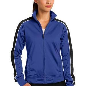 Ladies Piped Tricot Track Jacket Thumbnail