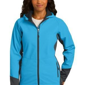 Ladies Vertical Hooded Soft Shell Jacket Thumbnail