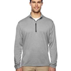 Men's Heather 3-Stripes Quarter-Zip Layering Thumbnail