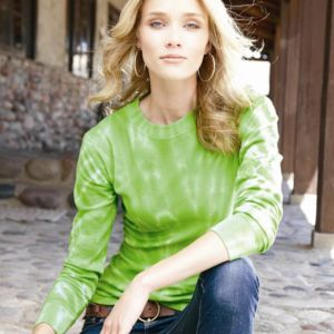 Ladies' Hannah Long Sleeve Tie-Dyed Thermal T-Shirt Thumbnail