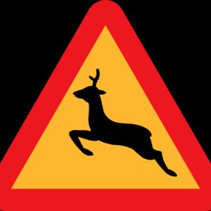 ryanlerch Warning Deer Roadsign Thumbnail