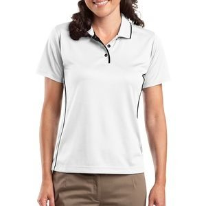 Ladies Dri Mesh ® Polo with Tipped Collar and Piping Thumbnail
