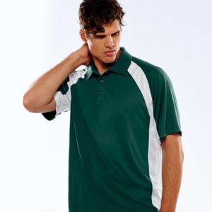 UltraClub® Adult Cool & Dry Sport Performance Color Block Interlock Polo Thumbnail