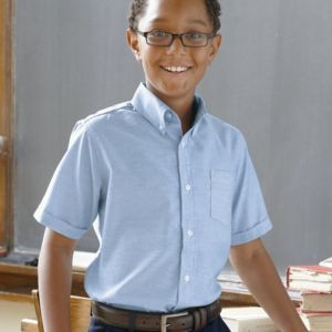 Boys' Short Sleeve Oxford Shirt Thumbnail