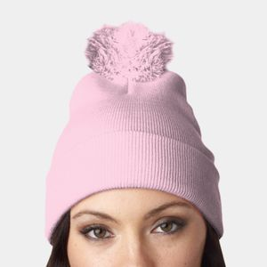 UltraClub Knit Pom-Pom Beanie with Cuff Thumbnail