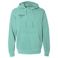 Heavyweight Pigment Dyed Hooded Sweatshirt Thumbnail